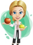 Blonde Female Doctor Cartoon Vector Character AKA Dana Physic-Care - Shape8