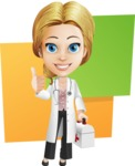 Blonde Female Doctor Cartoon Vector Character AKA Dana Physic-Care - Shape10