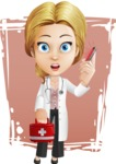 Blonde Female Doctor Cartoon Vector Character AKA Dana Physic-Care - Shape11