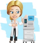Blonde Female Doctor Cartoon Vector Character AKA Dana Physic-Care - Shape12