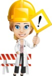 Blonde Female Doctor Cartoon Vector Character AKA Dana Physic-Care - Construction