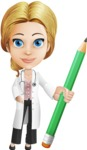 Blonde Female Doctor Cartoon Vector Character AKA Dana Physic-Care - Pencil