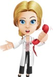 Blonde Female Doctor Cartoon Vector Character AKA Dana Physic-Care - Emergency Call 2
