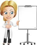 Blonde Female Doctor Cartoon Vector Character AKA Dana Physic-Care - Presentation 2