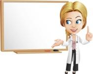Blonde Female Doctor Cartoon Vector Character AKA Dana Physic-Care - Presentation 3