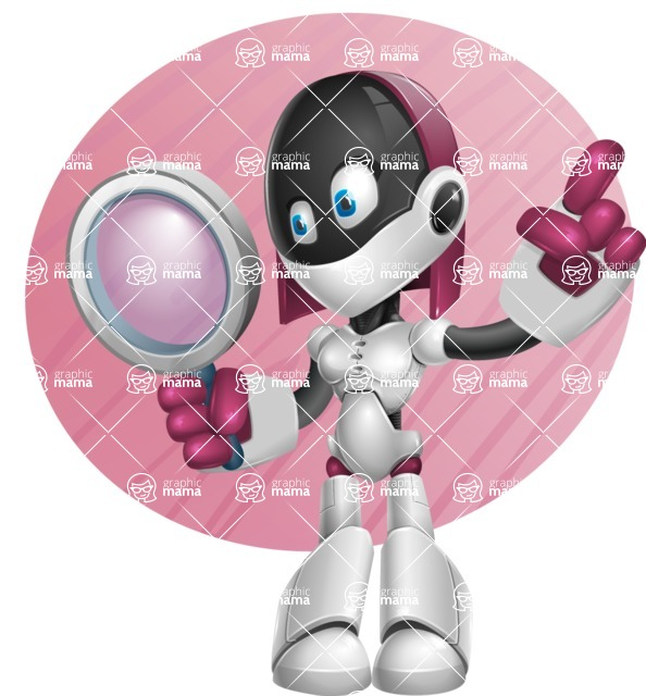 Digitally Intelligent Vector Graphic Android - set of different poses - Shape9