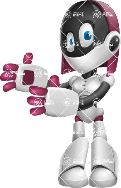 Digitally Intelligent Vector Graphic Android - set of different poses - Welcome