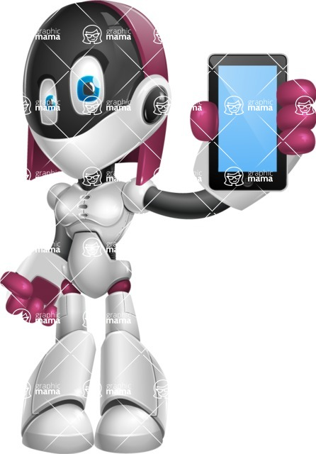 Digitally Intelligent Vector Graphic Android - set of different poses - iPhone