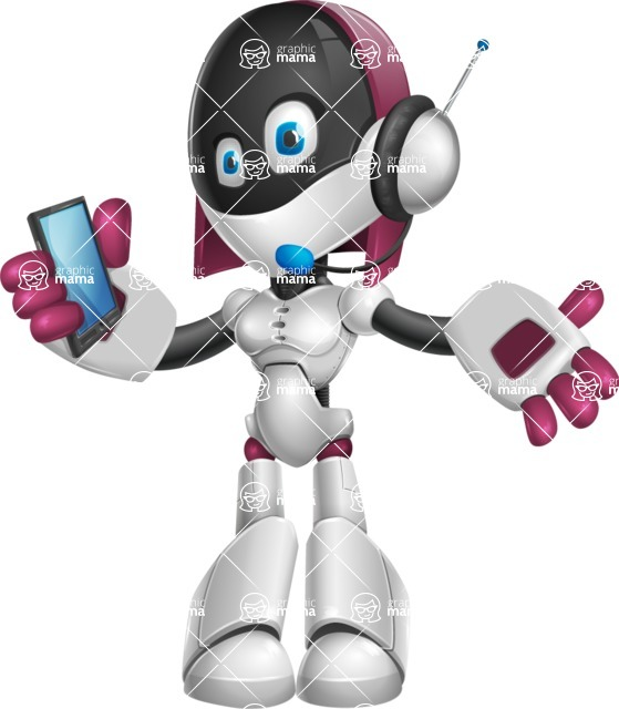 Digitally Intelligent Vector Graphic Android - set of different poses - Support