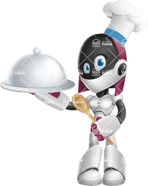 Woman Robot Cartoon Vector Character Aka Diva Graphicmama