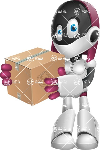 Digitally Intelligent Vector Graphic Android - set of different poses - Delivery 1
