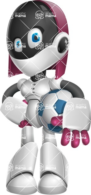 Digitally Intelligent Vector Graphic Android - set of different poses - Soccer