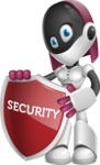 Digitally Intelligent Vector Graphic Android - set of different poses - Security 2