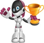 Digitally Intelligent Vector Graphic Android - set of different poses - Winner