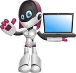 Digitally Intelligent Vector Graphic Android - set of different poses - Laptop 2