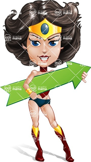 Cute Cartoon Girl Superhero Vector Character AKA Lady Ricochette - Arrow 2