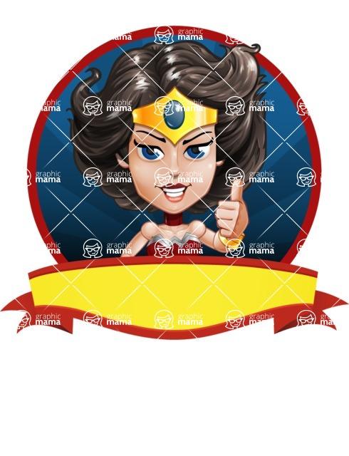 Cute Cartoon Girl Superhero Vector Character AKA Lady Ricochette - Shape 4