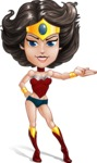 Cute Cartoon Girl Superhero Vector Character AKA Lady Ricochette - Show 1