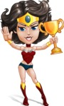 Cute Cartoon Girl Superhero Vector Character AKA Lady Ricochette - Winner