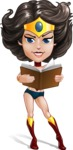 Cute Cartoon Girl Superhero Vector Character AKA Lady Ricochette - Book