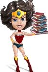 Cute Cartoon Girl Superhero Vector Character AKA Lady Ricochette - Books 3