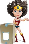 Cute Cartoon Girl Superhero Vector Character AKA Lady Ricochette - Delivery