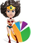 Cute Cartoon Girl Superhero Vector Character AKA Lady Ricochette - Chart