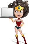 Cute Cartoon Girl Superhero Vector Character AKA Lady Ricochette - Notebook