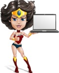 Cute Cartoon Girl Superhero Vector Character AKA Lady Ricochette - Notebook 2