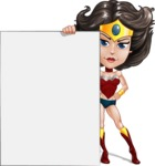 Cute Cartoon Girl Superhero Vector Character AKA Lady Ricochette - Presentation 5