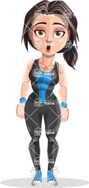 Marina the Ambitious Fitness Woman - Stunned