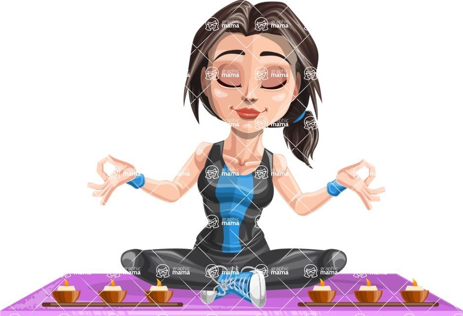 Marina the Ambitious Fitness Woman - Yoga 2