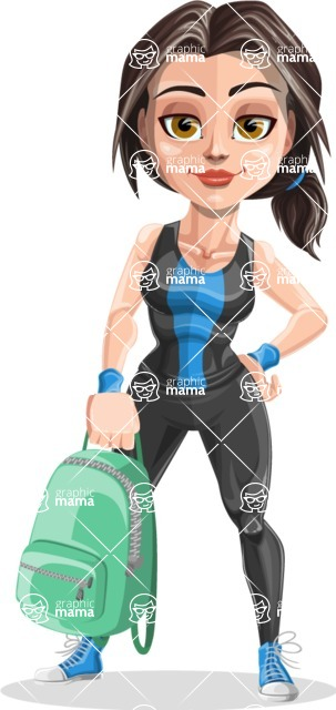 Marina the Ambitious Fitness Woman - Backpack
