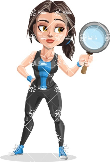 Cute Fitness Woman Cartoon Vector Character AKA Marina - Search