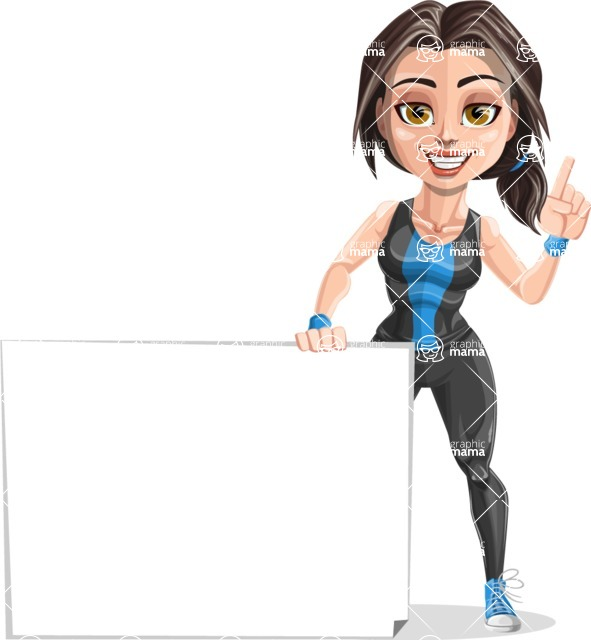 Marina the Ambitious Fitness Woman - Sign 7