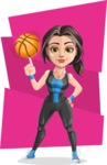 Cute Fitness Woman Cartoon Vector Character AKA Marina - Shape 7