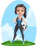 Cute Fitness Woman Cartoon Vector Character AKA Marina - Shape 12