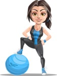 Marina the Ambitious Fitness Woman - Fitness ball 1
