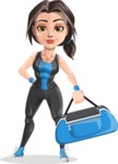 Marina the Ambitious Fitness Woman - Fitness bag 1