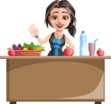 Marina the Ambitious Fitness Woman - Healthy food