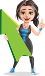 Cute Fitness Woman Cartoon Vector Character AKA Marina - Pointer 1