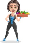 Marina the Ambitious Fitness Woman - Healthy food 2