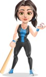 Marina the Ambitious Fitness Woman - Baseball 2