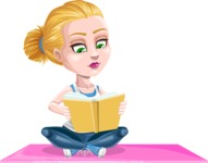 Ines the Fitness pro - Yoga with a book