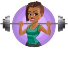 African American Fitness Girl Cartoon Vector Character AKA Alicia - Shape 1