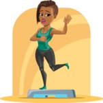 African American Fitness Girl Cartoon Vector Character AKA Alicia - Shape 5