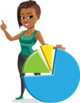 African American Fitness Girl Cartoon Vector Character AKA Alicia - Chart