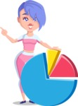 Flat Fitness Girl Cartoon Vector Character AKA Bridget MissFit - Chart