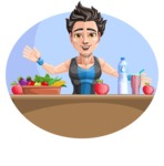 Handsome Fitness Man Cartoon Vector Character AKA Mitch - Shape 3