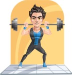 Handsome Fitness Man Cartoon Vector Character AKA Mitch - Shape 5